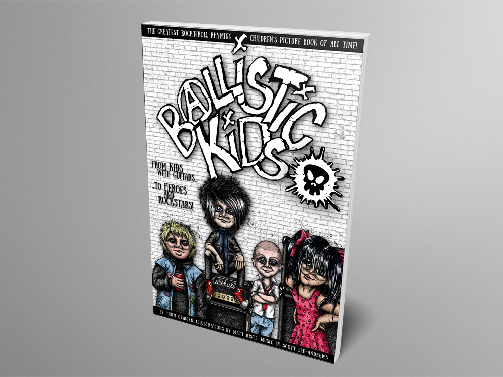 Mock up of Ballistic Kids Limited Edition alternative cover paperback book - one physical copy