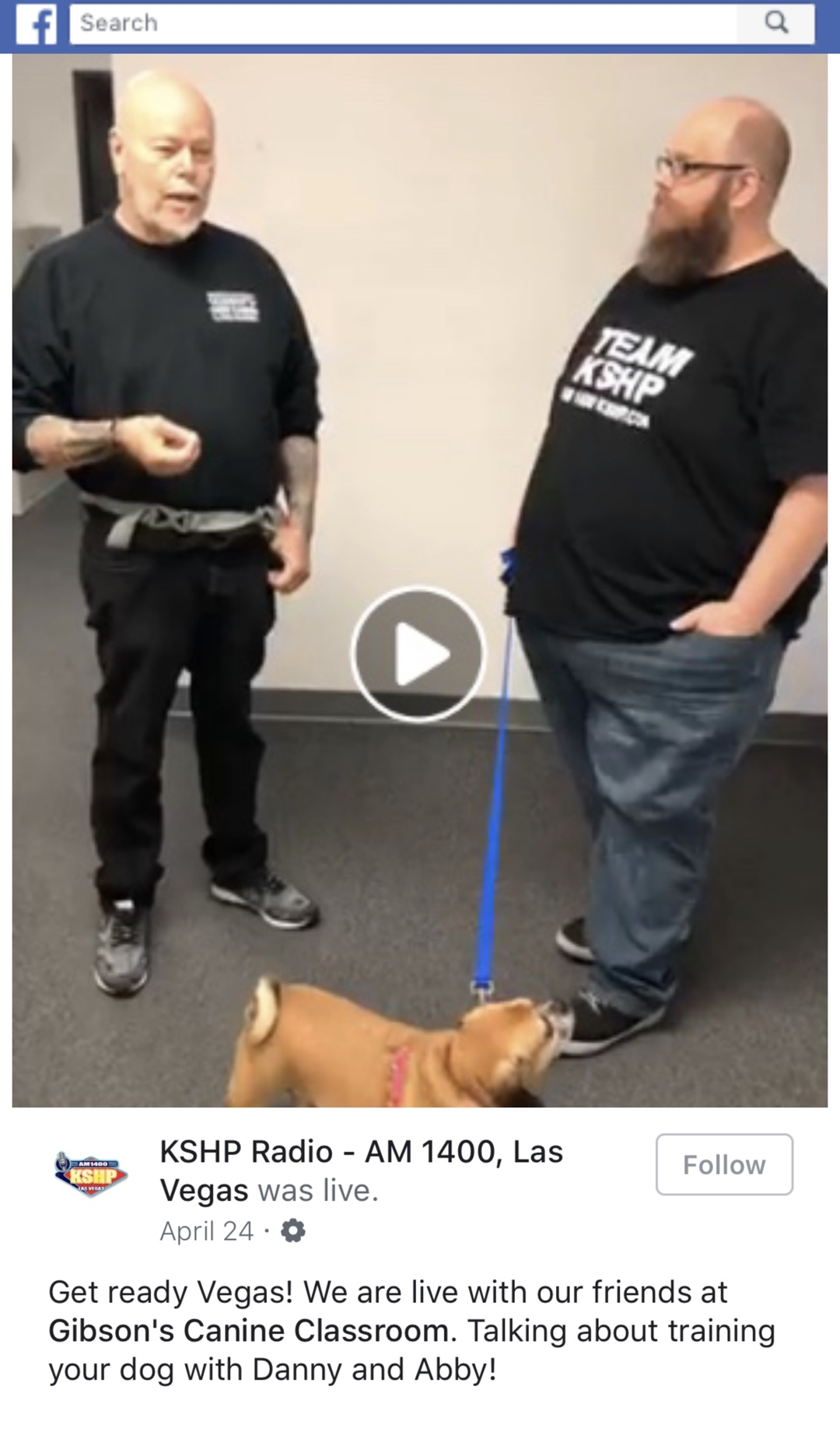 KSHP Radio - AM 1400, Las Vegas was live with Gibson's Canine Classroom
