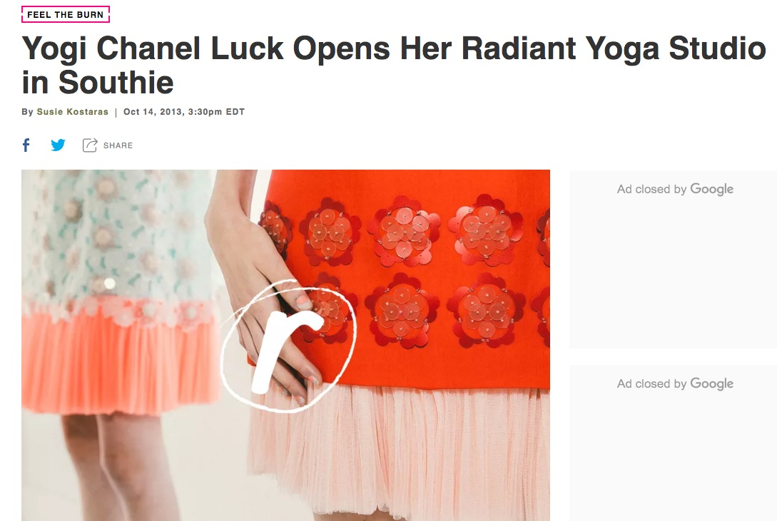 Aside from having the coolest name ever, it's a good time to be  Chanel Luck . The local yogi has just opened her first studio in South Boston, called  Radiant Yoga , a moniker shared with her teacher training school. With a schedule boasting more than  25 weekly classes , Luck's team is offering everything from upbeat, playful routines like Fluid Power Flow on one end of the spectrum with supportive, calming practices like Candlelight Yin Flow on the other. Community and specialized classes are also on the agenda, including the trendy AcroYoga and pre-natal groups.