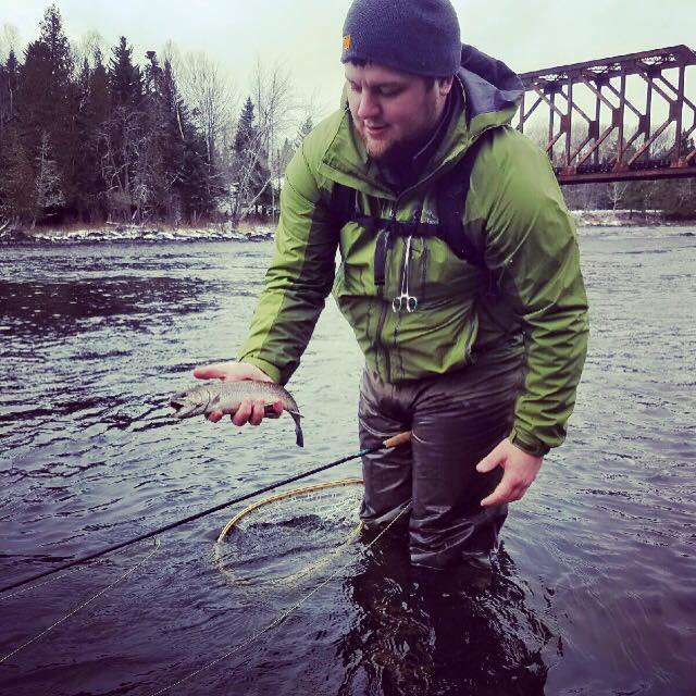 Wading for Salmon and Brook Trout - Fly fish one of Maine's pristine rivers for trout and salmon.