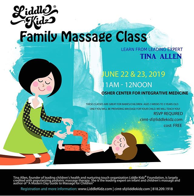 ✨I am so exited! This weekend I am taking a 3 day infant massage class to become a certified infant massage teacher (CIMT). Any of you in the SF Bay Area with little ones aged 3 months to 3 years old are welcome to come to this family massage class & learn the benefits of infant massage! This class would be completely FREE to you. Make sure you register ahead of time! ✨  #liddlekidz #tinaallen #infantmassage #ucsf #sanfrancisco #CIMT #childlife #playwithchildlife #kids #childlifespecialist #childlifestudent #ccls #futureccls #MedicalPlay #healthcarecareer #pediatrics #peds #childlifegradstudent #kids