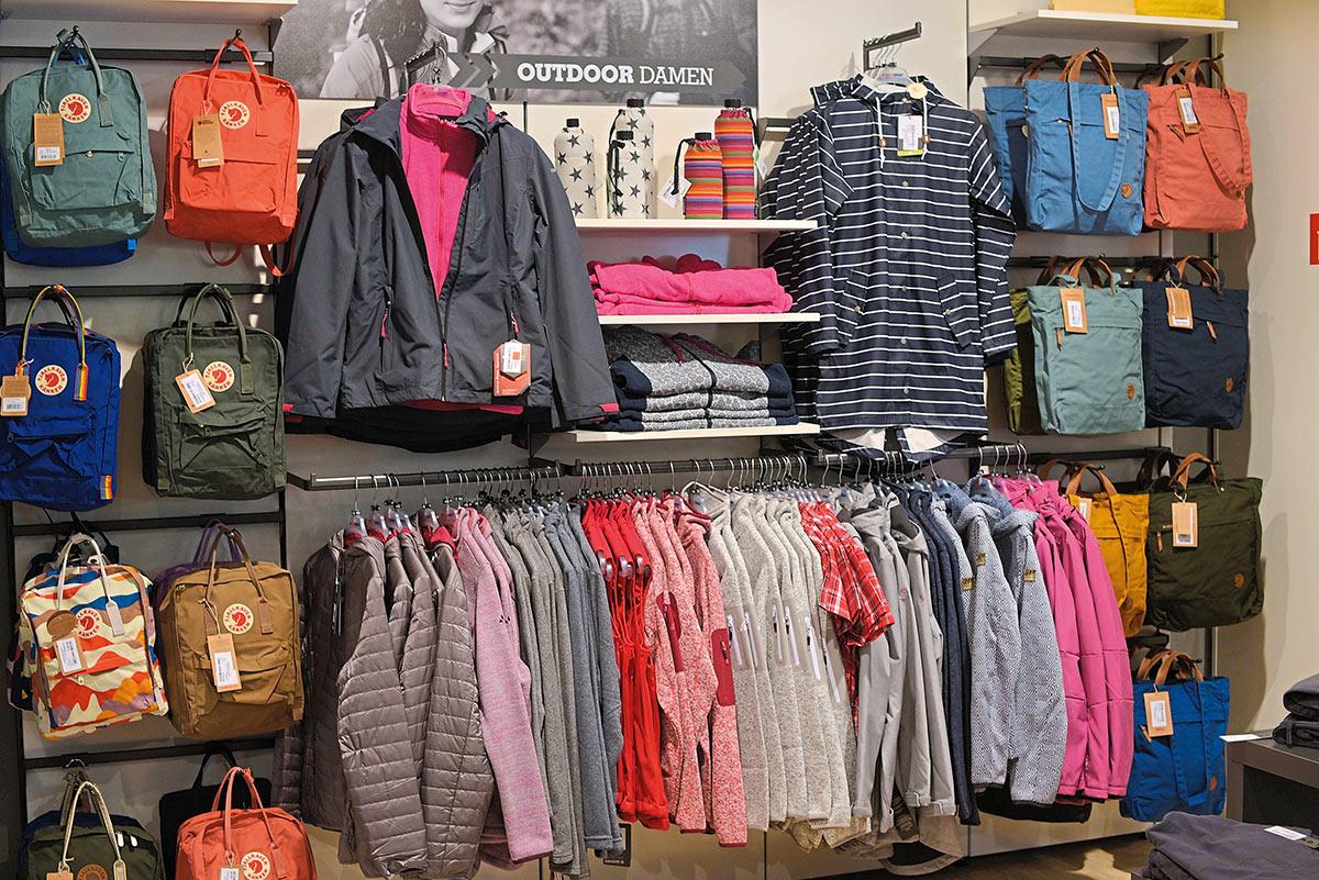 Auswahl Outdoorbekleidung