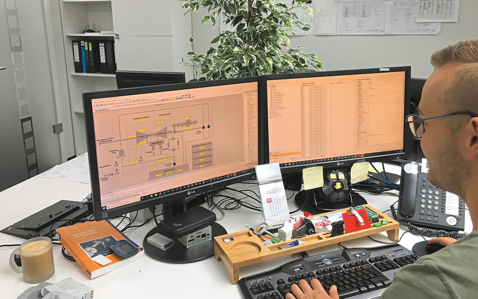 Am Monitor können die Vistera-Mitarbeiter Anlagen kontrollieren und steuern – per Fernzugriff.