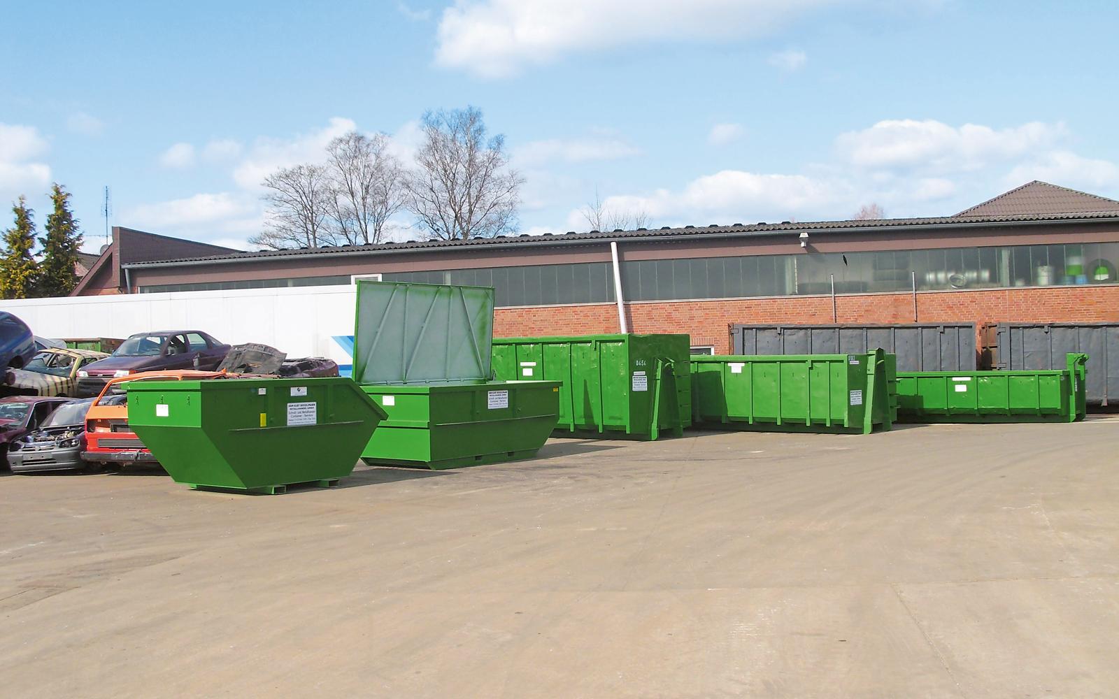 Container können in verschiedenen Größenordnungen geordert werden.
