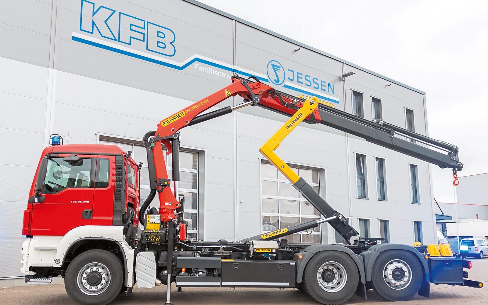 Kranaufbauten aller Größenordnungen sind ein Spezialgebiet von KFB Jessen.