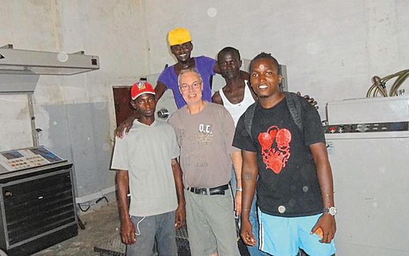 Raymond Koch in Guinea Bissau.