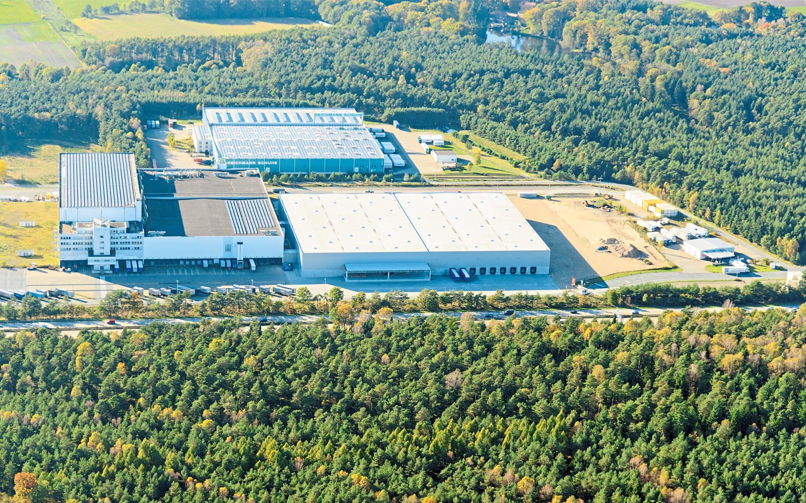 Das Gelände des Soltau Logistic Centers direkt an der A7 bei Soltau.