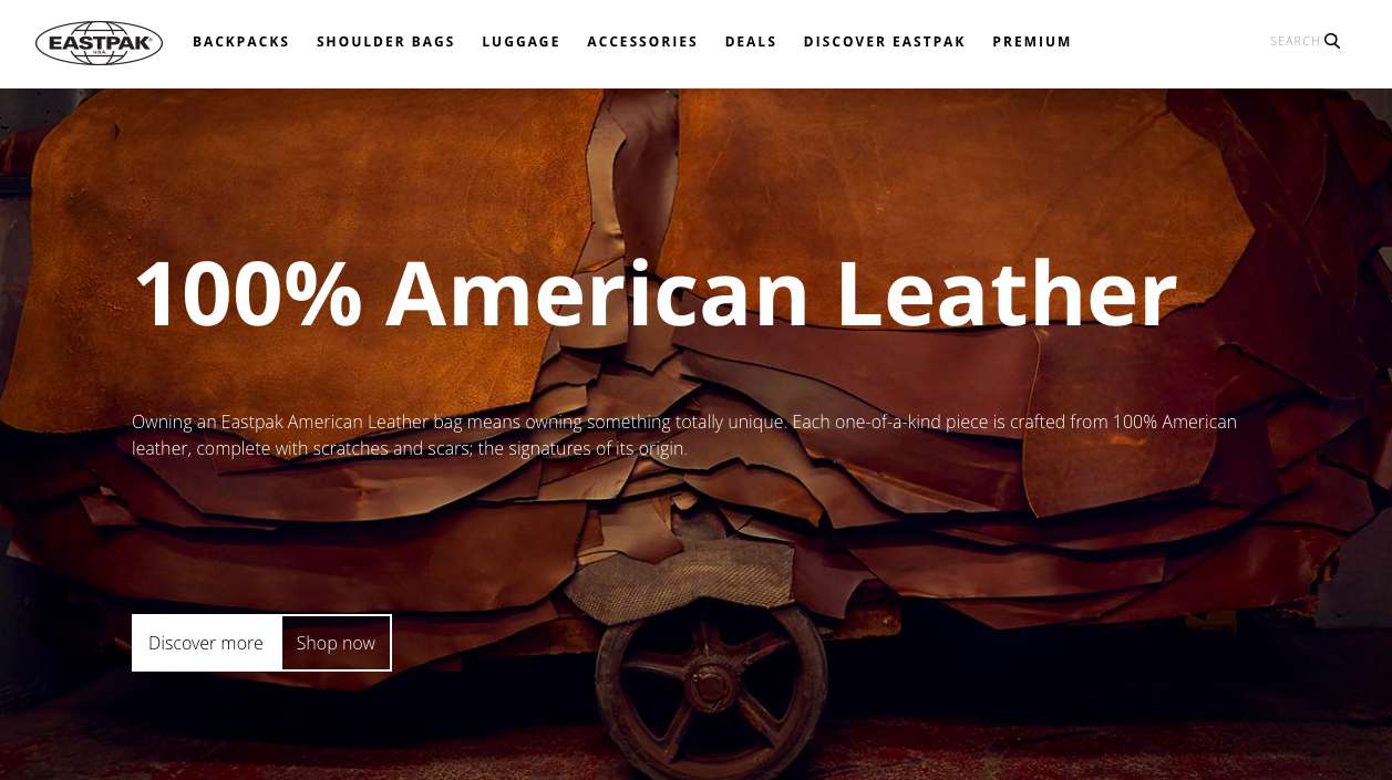 Eastpak - american leather landing page