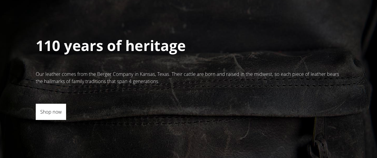 American leather landing page 2