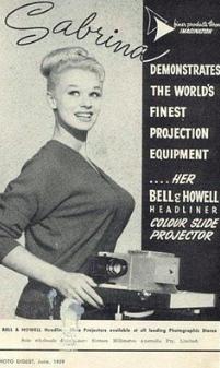 colour slide projector