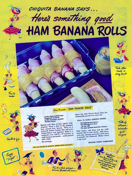 ham banana rolls
