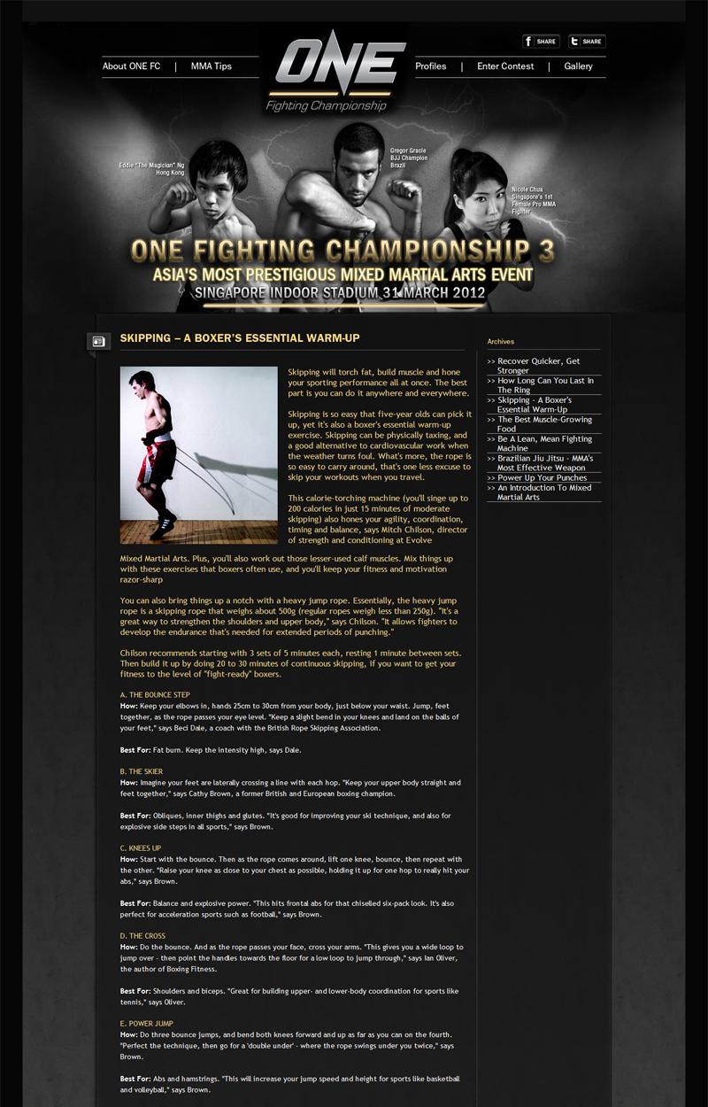 ONE FIGHTING