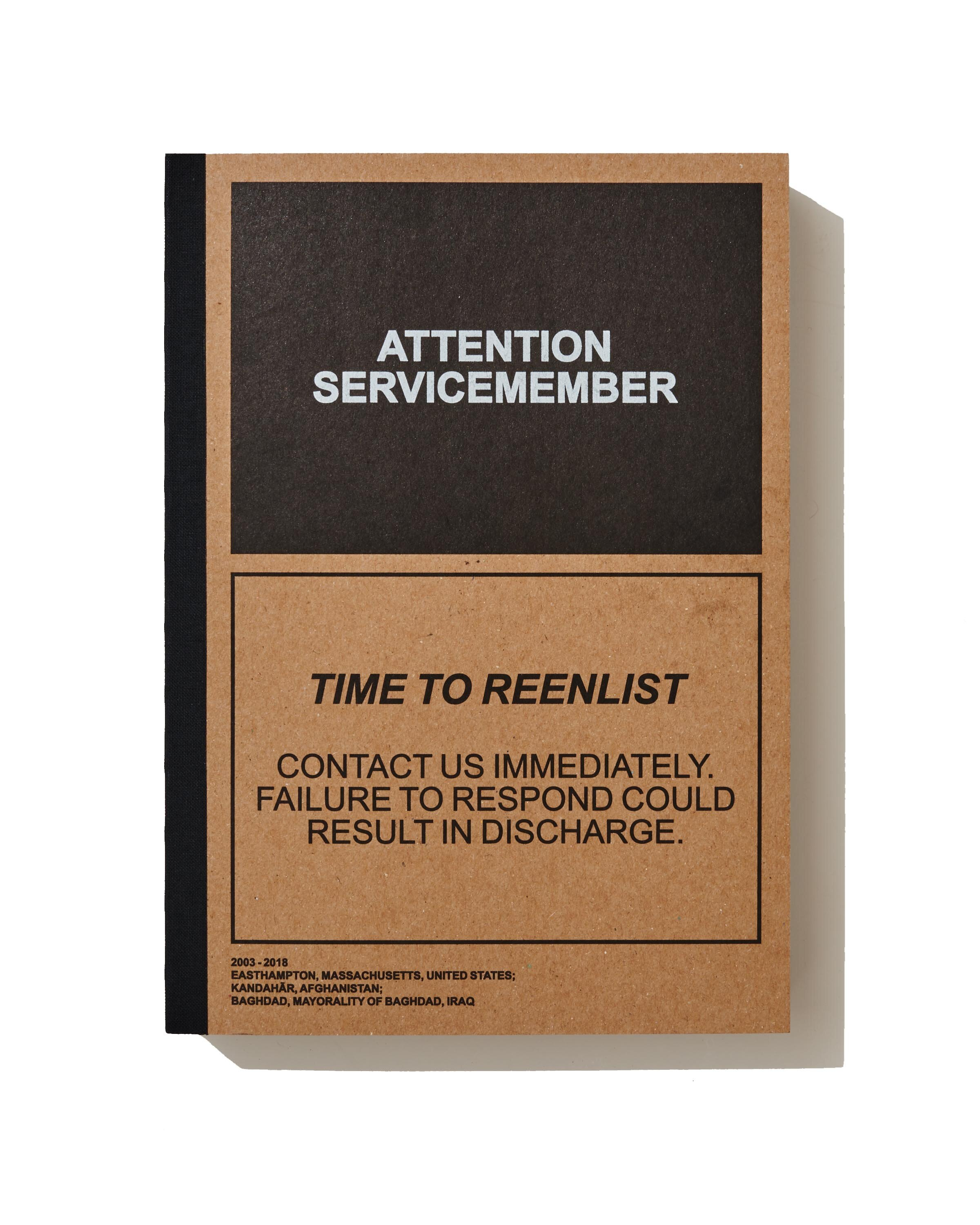 attention servicemember - by Ben BrodyShortlisted for the Aperture - Paris Photo First Book Award