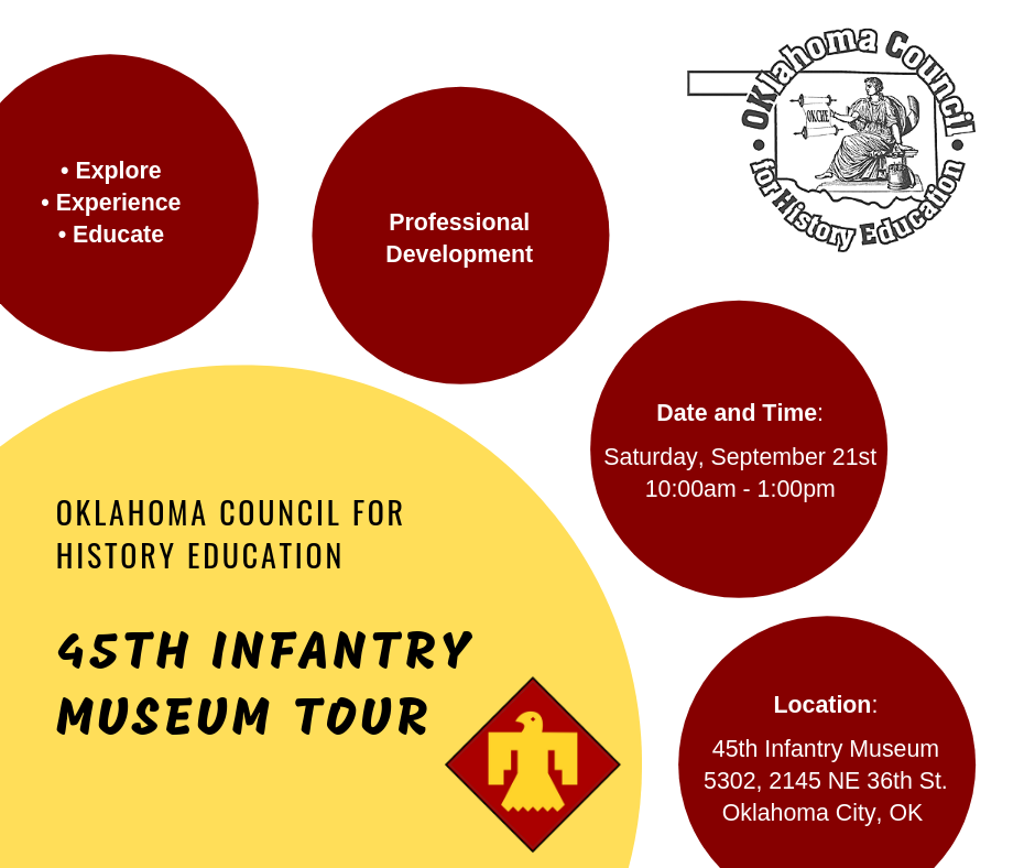 Historical tour - We serve teachers across the state with relevant and engaging professional development experiences. Our first Historical Tour will be held on September 21, 2019. It will be hosted at the 45th Infantry Museum. Join us for engaging professional development where you will explore, experience and educate!