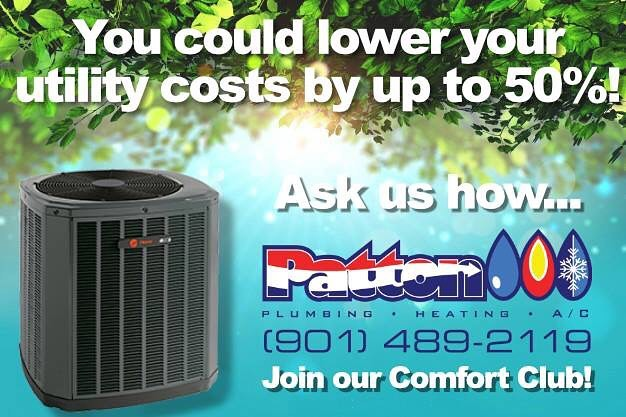 Who doesn't want a cheaper utility bill? 💸 Call 901-489-2119 and ask about the #PattonPlumbingHeatingandAC comfort club today!
