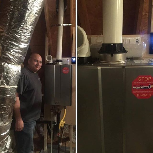 Today's hot topic... Endless hot water!  We installed a Rinnai Tankless Water Heater with a Recirculator pump for added comfort. No more waiting for hot water! The comfort control can often be added in the master bathroom to control water temperature for children or the elderly.  Call #PattonPlumbingHeatingandAC today! 901-489-2119