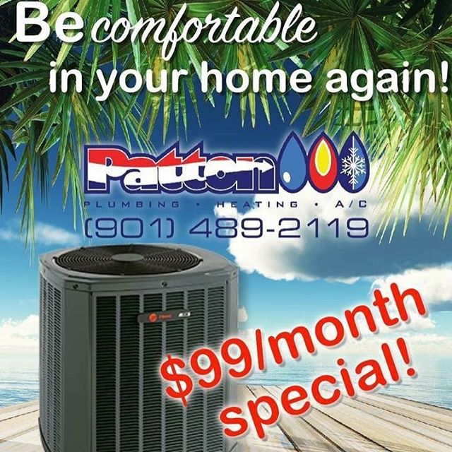 Hurry - hurry - hurry... we extended this offer just for you! 👍🏼 Upgrade your worn out A/C system with #PattonPlumbingHeatintgandAC... you can reduce your utility bill up to 50%! Call 901-489-2119 or visit us on the web at www.pattonplumbingheatingandac.com NOW!
