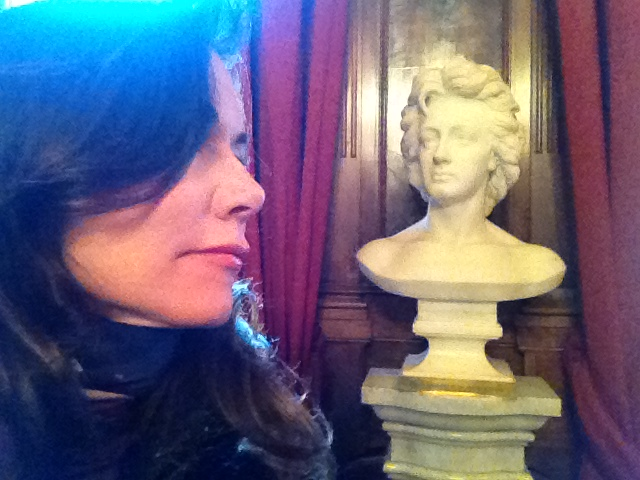 And his eyes met mine (in the Keats Shelley House in Rome).