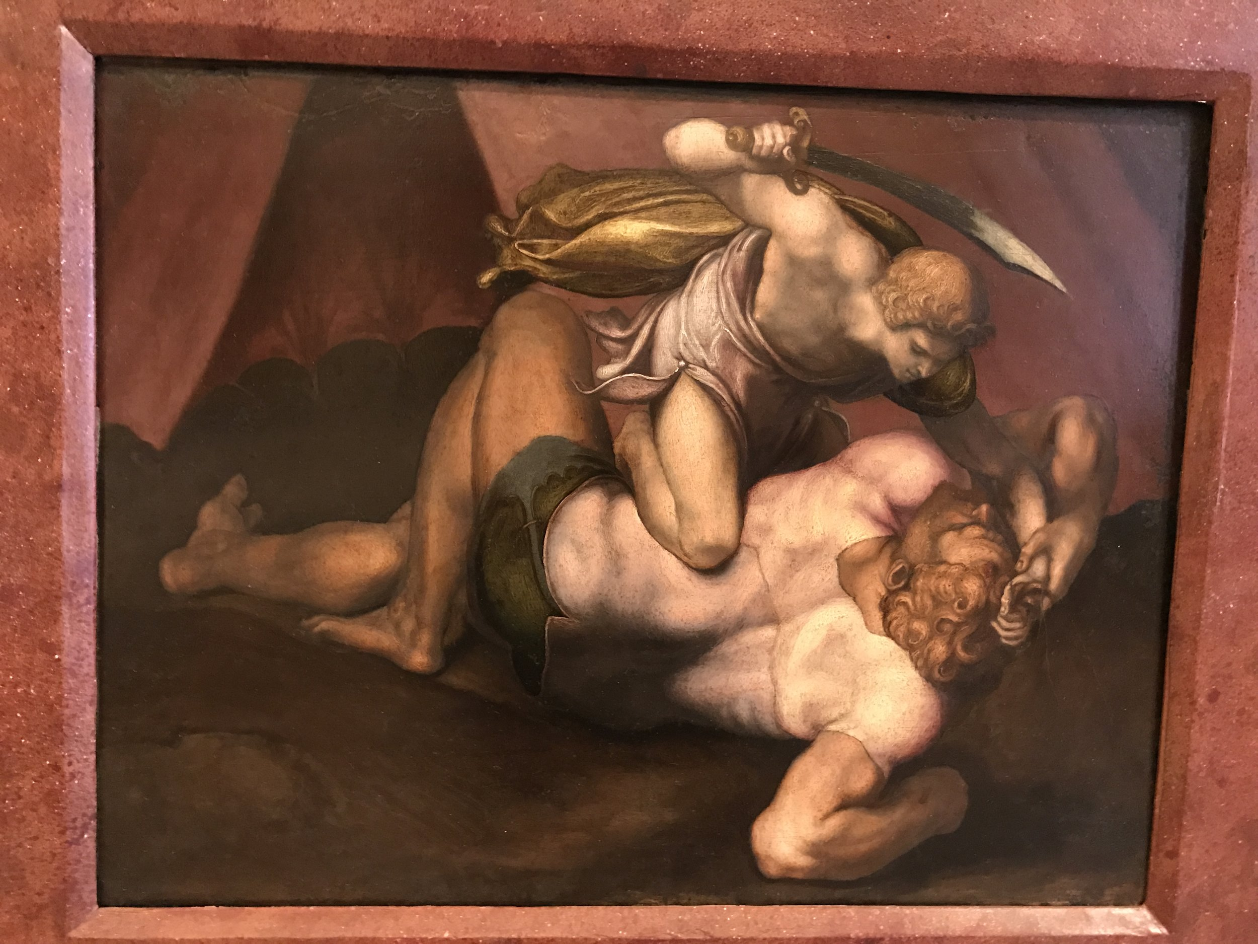 """""""I caught a glimpse of something else"""" in Volterra's 16th century painting of David."""
