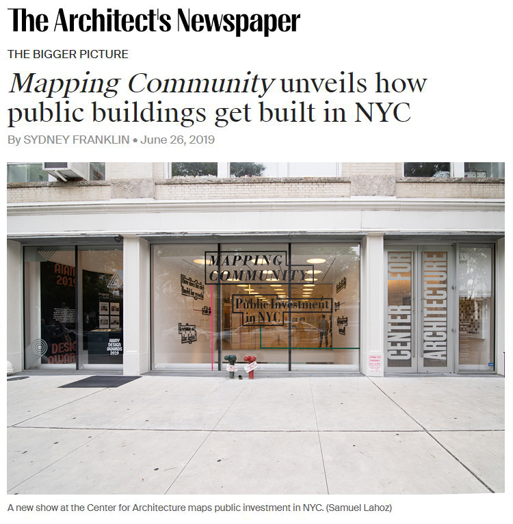 Exhibit curated by Faith Rose at the Center for Architecture is featured on The Architect's Newspaper.