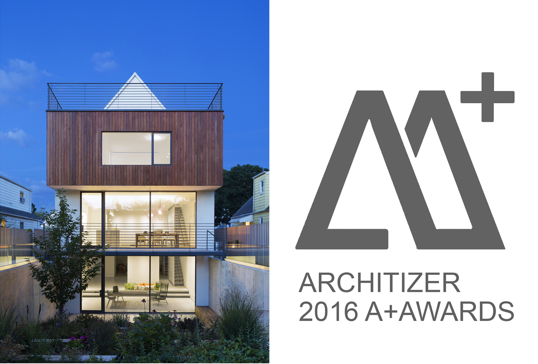O+RA receives the 2016 Architizer A+Award for Choy House