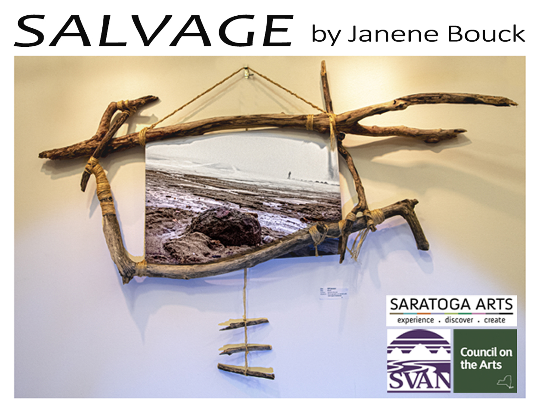 SALVAGE is hosted by Sacandaga Valley Arts Network (SVAN). Additionally, Saratoga Arts made this possible with an Individual Artist Grant  funded by the New York State Council on the Arts with the support of Governor Andrew M. Cuomo & the New York State Legislature.