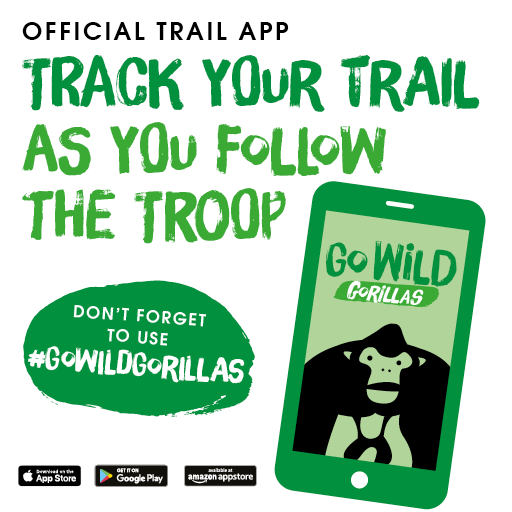 With our trail appyou can… - • Unlock gorillas• Claim rewards• Follow your trail progress• Add photos to our gallery and share on social mediaDownload from the App Store, Google Play or Amazon Appstore for Android only £1.99