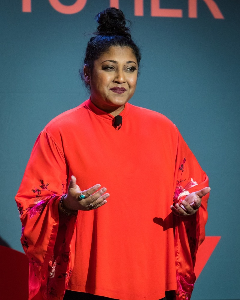 """- """"Working with Tabby was the catalyst that got me booked on the TEDx stage. She cuts through the weeds to get to the heart of your message.""""- Sonali Fiske, TEDxDelthorneWomen"""