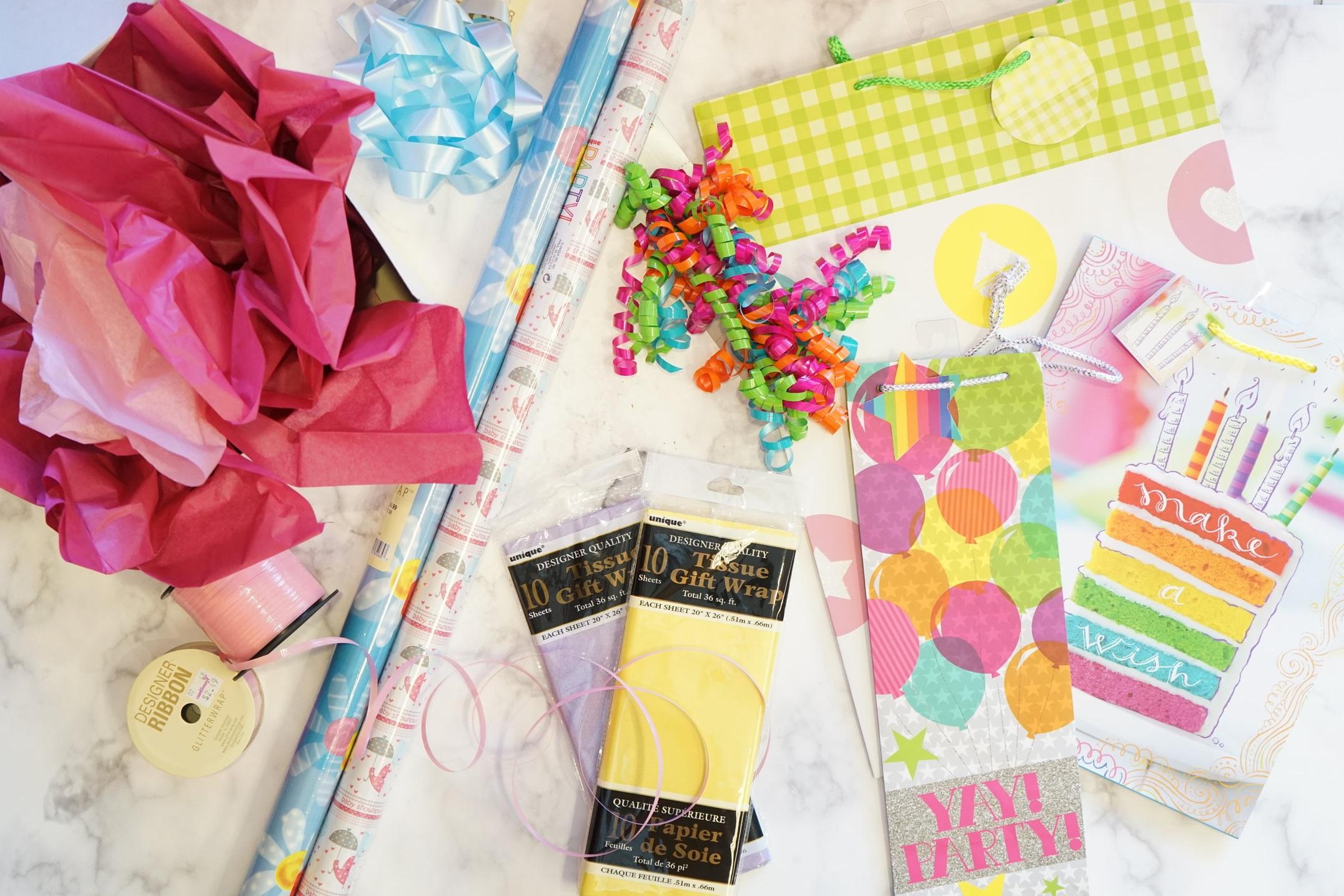 Wrap It Up - Gift BagsRoll WrapBoxesBowsRibbonsTissue