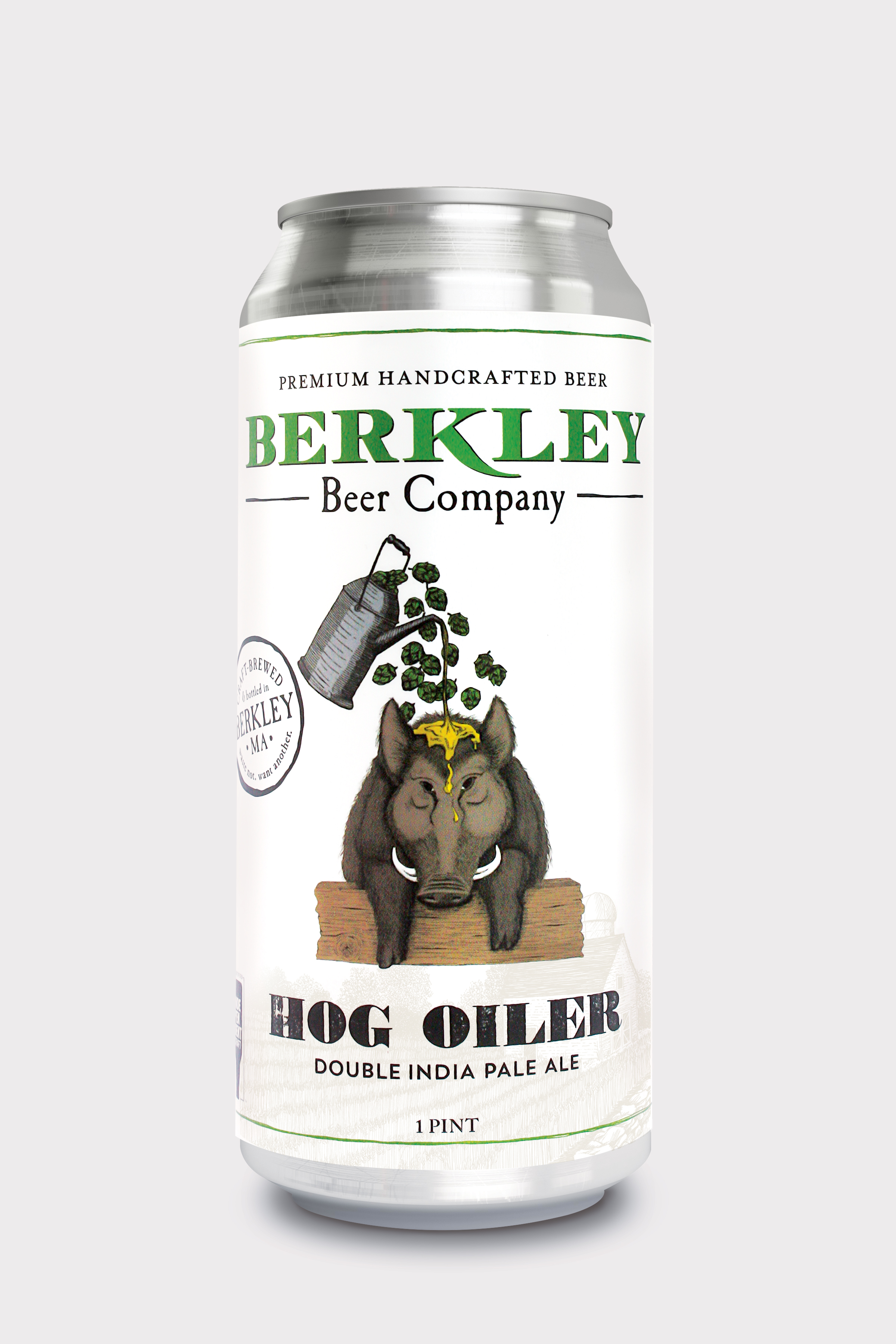 Hog Oiler 8%  Berkley's Hog Oiler Double IPA is thick and juicy with robust flavor. Loaded with hops and balanced with tropical fruity notes, our Hog Oiler is both drinkable and powerful.