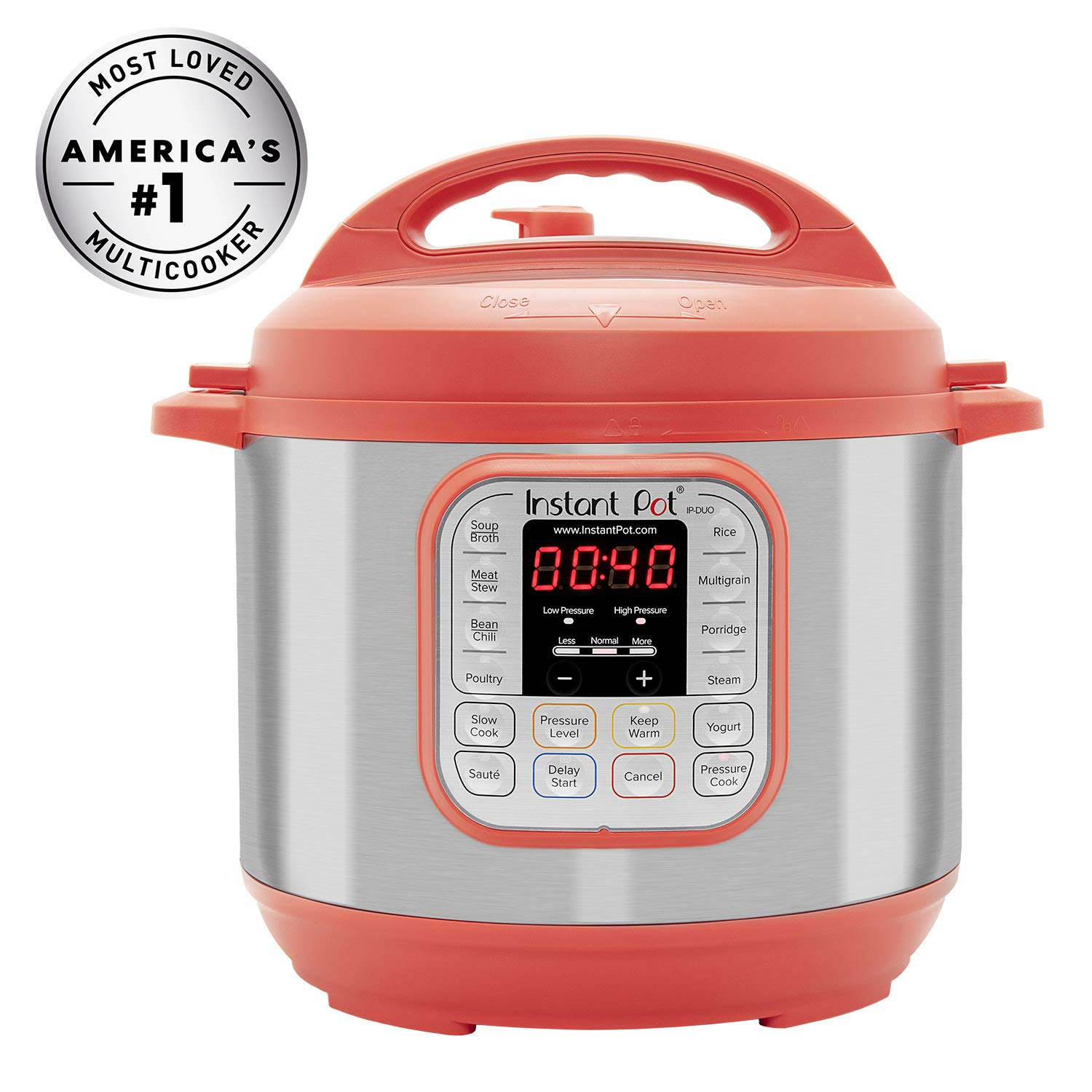 Instant Pot DUO RED Multi-Use Cooker - 6Qt   via Amazon   List Price: $100    Today's Price: $60