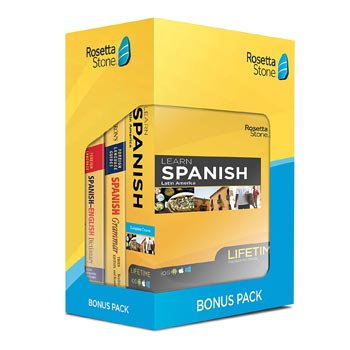 Rosetta Stone: Learn Spanish Bonus Bundle    via Amazon   List Price: $319   Today's Price: $159