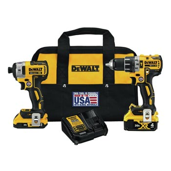DEWALT 20V MAX Hammer Drill/Driver & Impact Driver Combo    via eBay   List Price: $379   Today's Price: $180