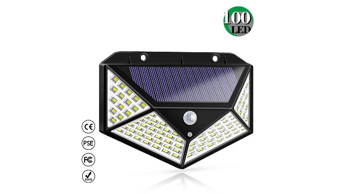 Solar Powered Motion Sensor Lights - 100 LEDs    via 1Sale   List Price: $20   Today's Price: $10