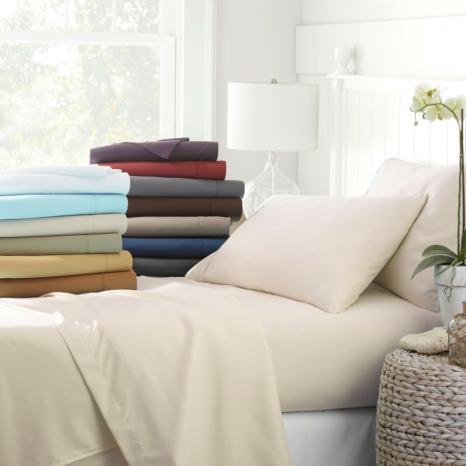 Egyptian Comfort 4-Piece Deep Pocket Bed Sheet Set - Hypoallergenic, Wrinkle-Free   List Price: $80   Today's Price: $14.49 — 82% off!    via eBay