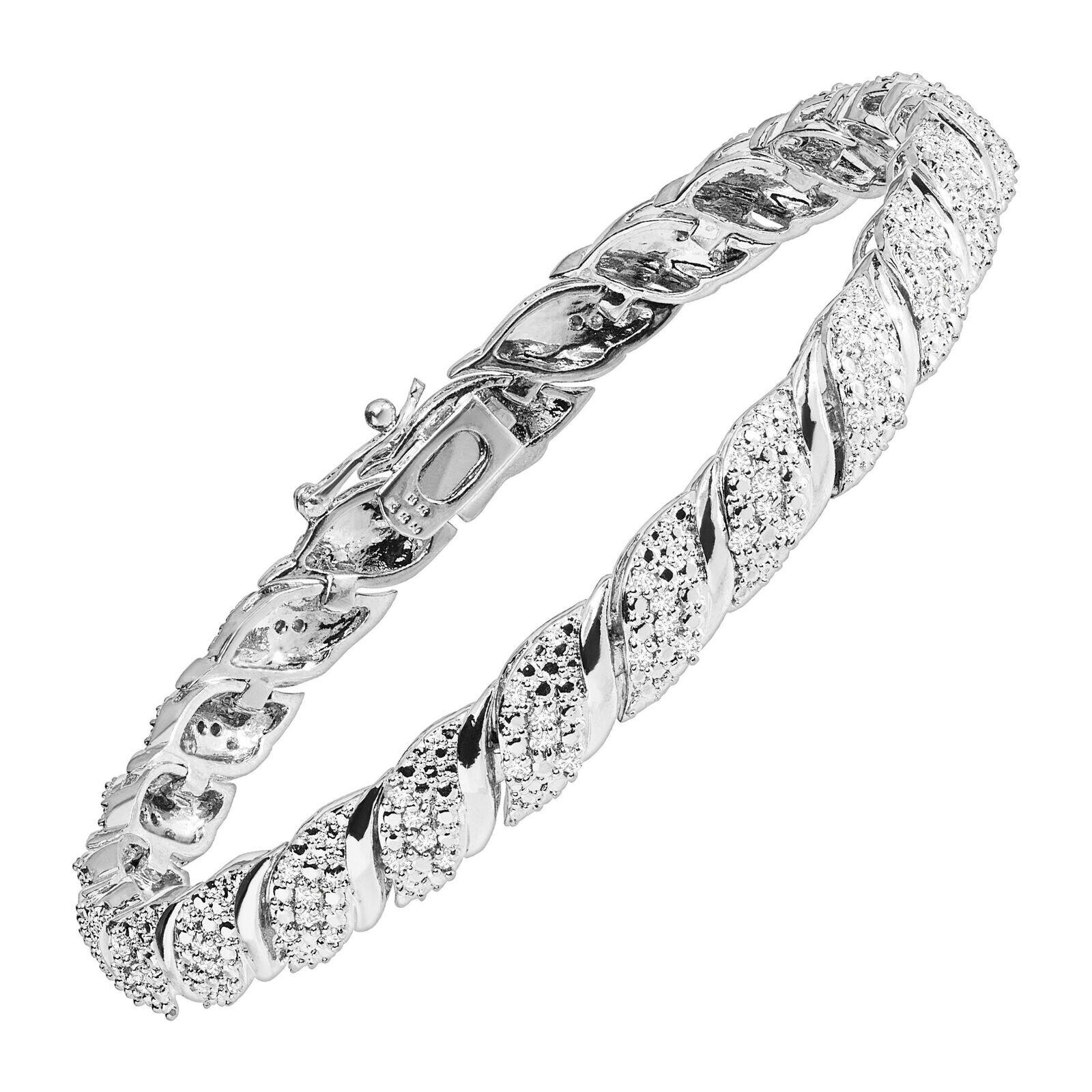 "1 CT Diamond Tennis Bracelet (Sterling Silver Plated Brass, 7.5"")   Reg Price: $429   Today's Price: $124 (71% off!)    via eBay"