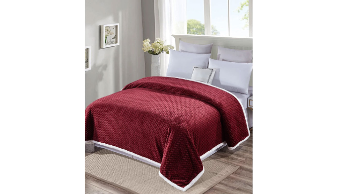 Ultra Soft Reversible & Comfortable Braided Oversized Sherpa Blanket   Reg. Price: $89   Today's Price: $30 (66% off!)    via 1Sale