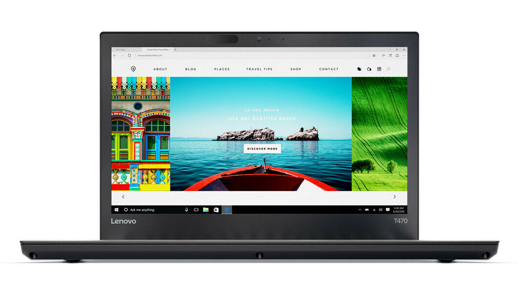 "Lenovo ThinkPad T470 (14"" HD, i5-6300U, 8GB RAM, 256GB SSD, Win10 Pro)   Reg Price: $1300   Today's Price: $470 (63% off!)    via eBay"