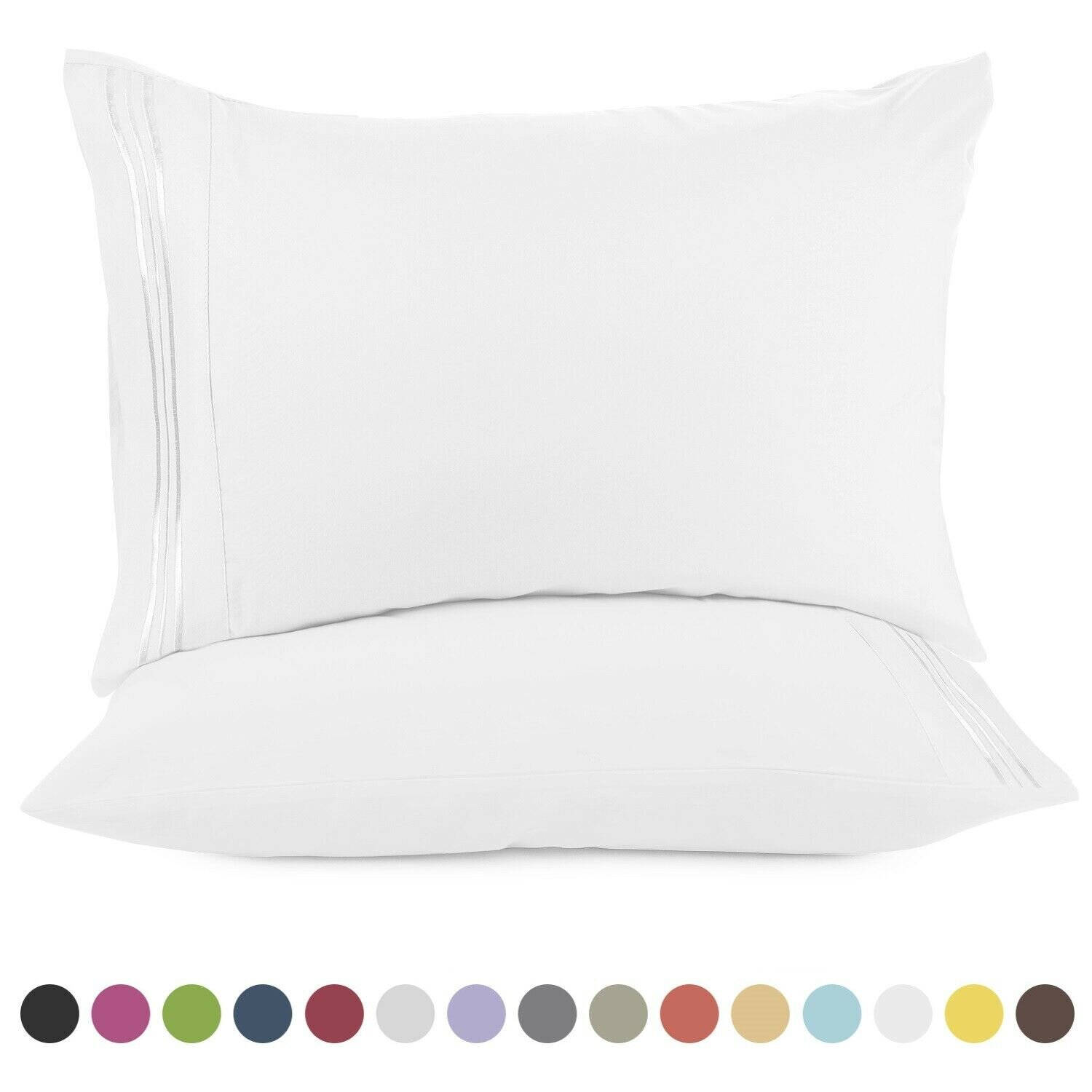 1800 Pillow Case Set (Set of 2) - Choice of Queen or King   Reg Price: $30   Today's Price: $5 (83% off!)    via eBay