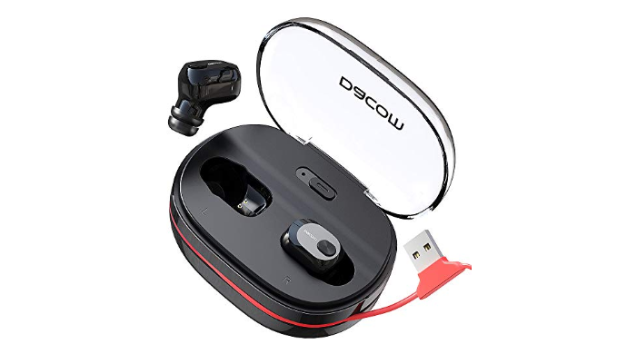 Wireless Bluetooth Earbuds w/ Microphone & Portable Charging Case   Reg Price: $40   Today's Price: $16 (60% off!)    via 1Sale