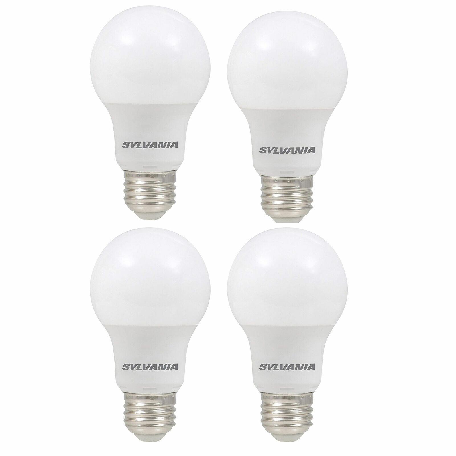 Sylvania 60 Watt Equivalent LED Energy-Saving Light Bulbs (4-pack)   Reg Price: $50   Today's Price: $25 (50% off!)    via eBay