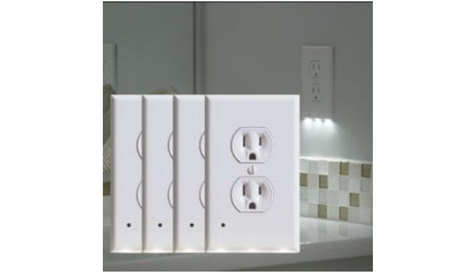 LED Night Light Outlet Covers (4-Pack)   Reg Price: $60   Today's Price: $14 (76% off!)    via 1Sale