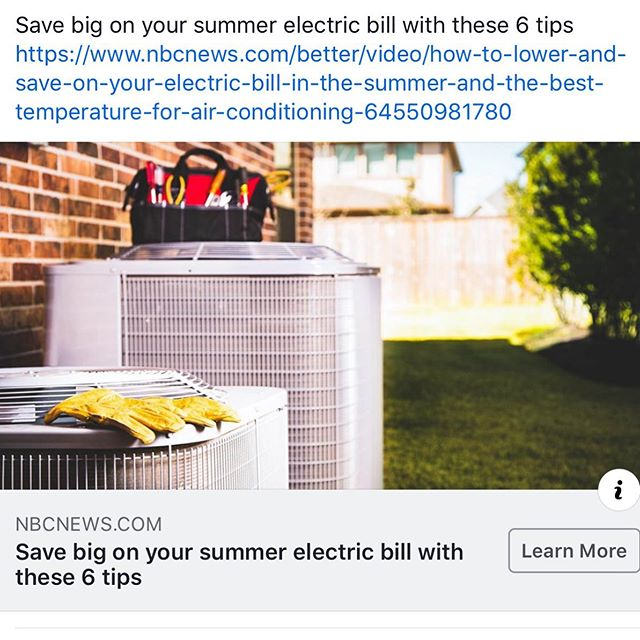 Save big on your summer electric bill with these 6 tips https://www.nbcnews.com/better/video/how-to-lower-and-save-on-your-electric-bill-in-the-summer-and-the-best-temperature-for-air-conditioning-64550981780