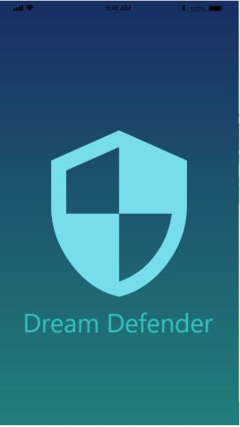 Proposed intro screen of the patent pending Dream Defender app