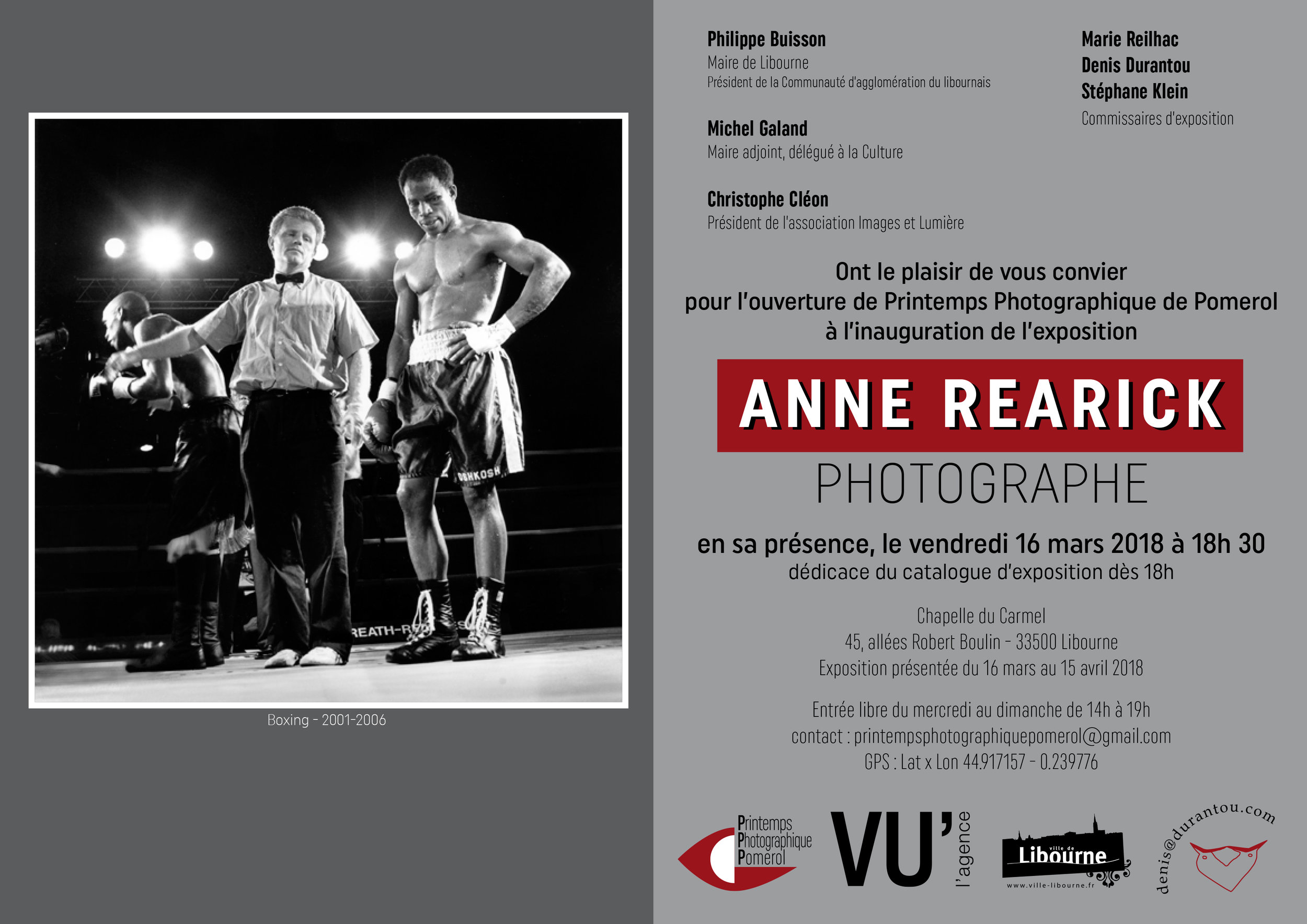 Invitation for Exhibition at the Chapelle du Carmel