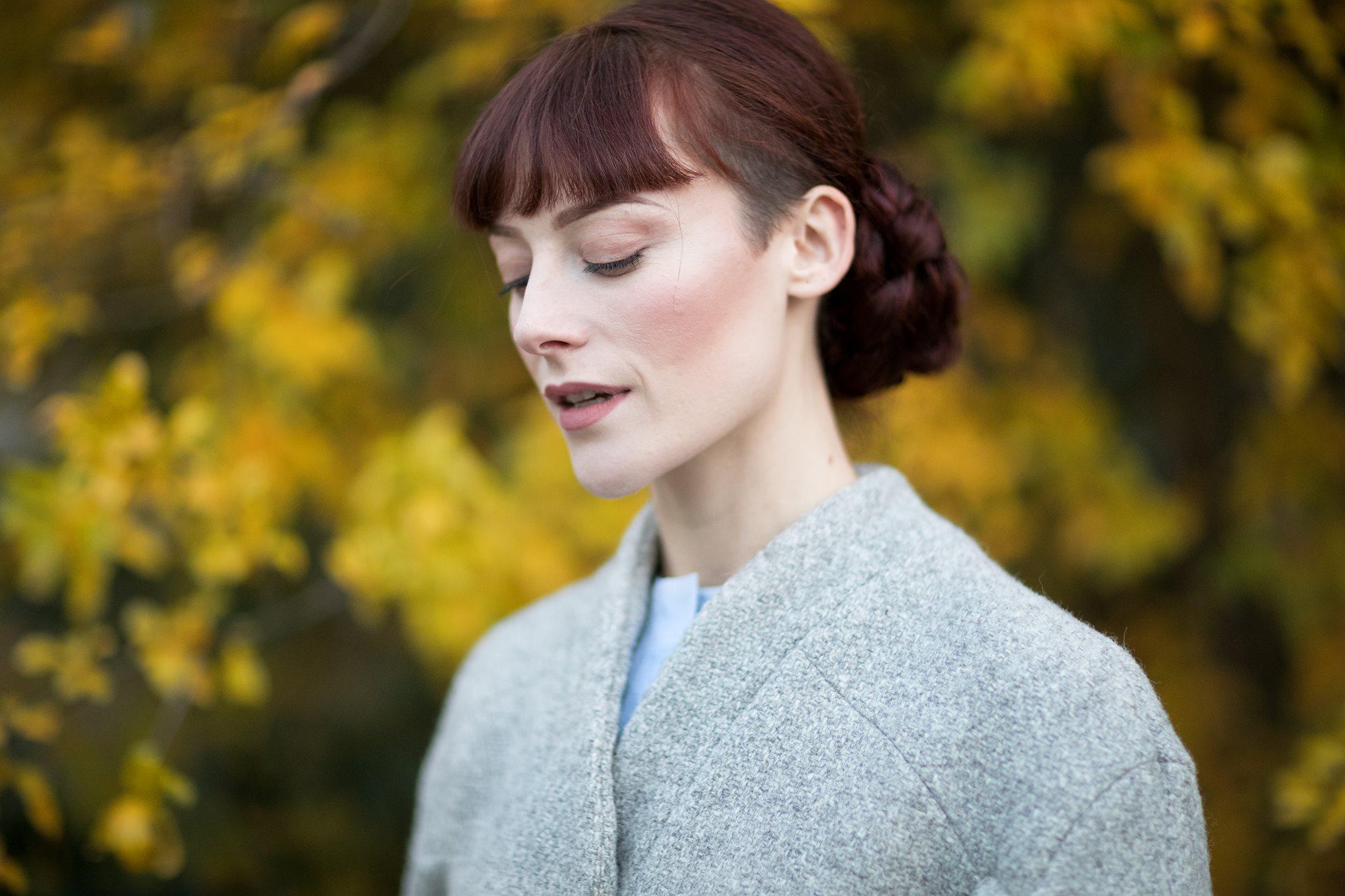 """Eliane"" undyed British wool coat Martina Sacchetti photographed by Davide Savaidis"