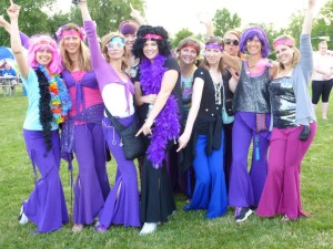 With the Beautiful Circle of Light Disco Divas~ at the Relay for Life