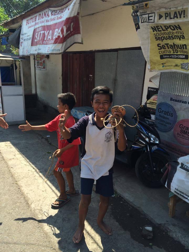 The local kids having fun