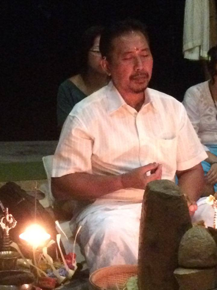 At a Puja Fire Ceremony