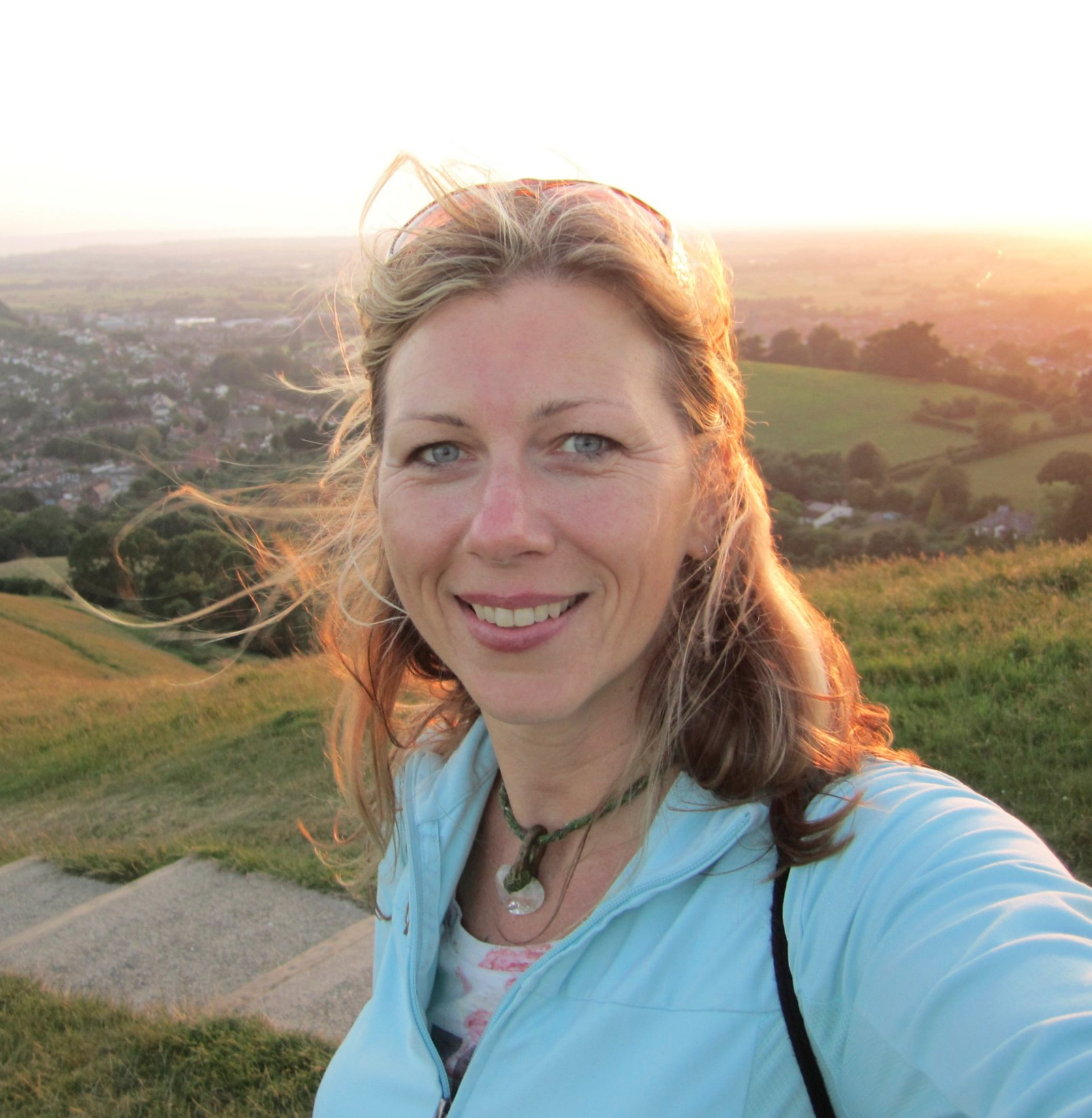 On top of the Tor in Glastonbury UK